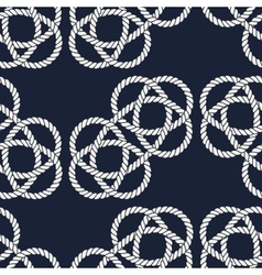 Seamless nautical rope pattern Carrick Bend knot vector