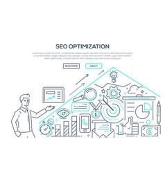 seo optimization - modern line design style vector image