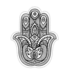 Set ornamental indian symbols vector