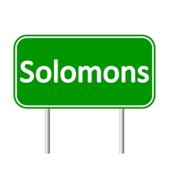 Solomons road sign vector