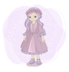 spring girl fairy tale children cartoon vector image