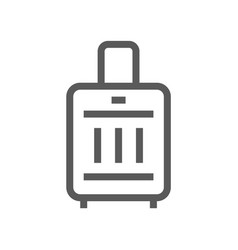 suitcase line icon vector image