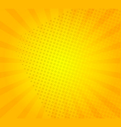sunburst on yellow background vector image
