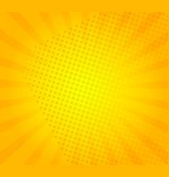 sunburst on yellow background vector image