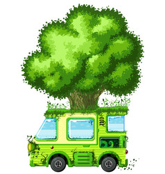 Tree van vector