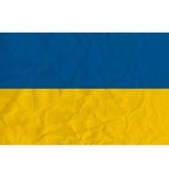 ukraine paper flag vector image