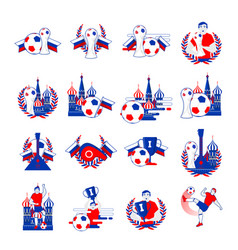 welcome to russia inscription badges set vector image