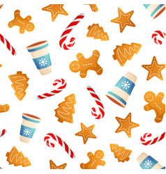 winter holiday seamless pattern vector image