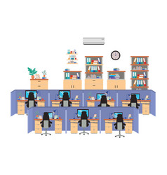 Work cubicles isolated icon vector
