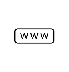 www search bar icon internet icon www web button vector image