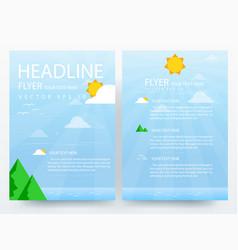 Abstract modern flyer brochure design templates vector