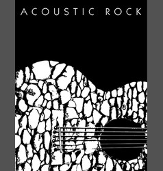 an acoustic rock music background vector image vector image