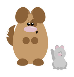 dog and cat surprised vector image vector image