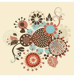 Floral Decorative Bouquet vector image vector image