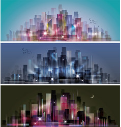 night city background vector image vector image