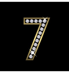 Number seven sign vector image vector image