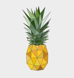 polygonal pineapple fruit vector image vector image