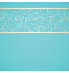 Seashell background vector image vector image