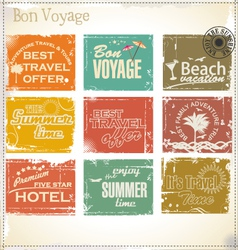 Vintage summer labels vector image
