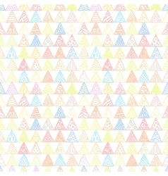 Abstract pattern of triangles light pastel vector image vector image