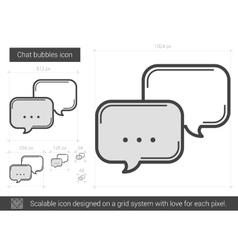 Chat bubbles line icon vector image