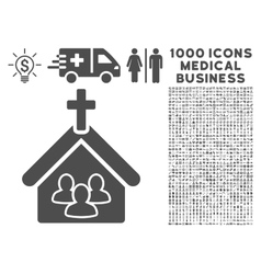 Church Icon with 1000 Medical Business Pictograms vector image vector image