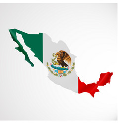 hanging mexico flag in form of map united mexican vector image vector image