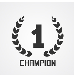 Laurel wreath for champion vector image vector image