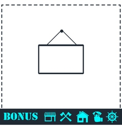 Signboard icon flat vector image vector image