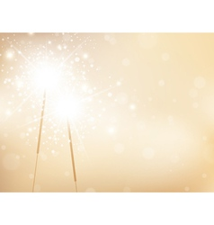 Sparklers Golden Background vector image vector image
