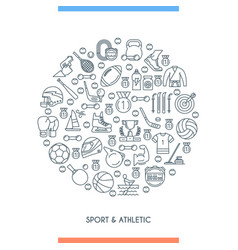 sports and athletics line concept vector image