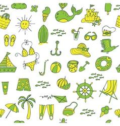 summer seamless pattern green yellow vector image vector image