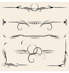 set design elements and page decoration vector image vector image