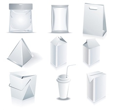 White package templates vector image vector image