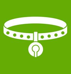 cat collar icon green vector image