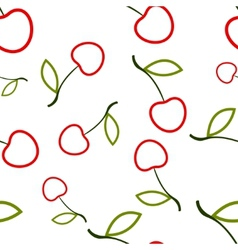 Pattern Circuit Cherry vector image vector image