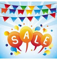 sale balloon vector image vector image