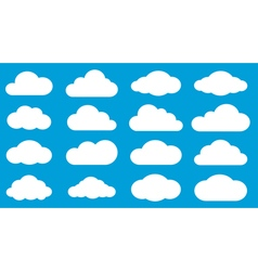 Set of white clouds vector image vector image