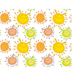 tender color funny mascot bubble shape sun rabbit vector image vector image