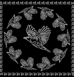 World crows vector image vector image