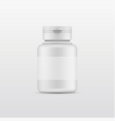 3d white plastic bottle for products isolate on a vector image