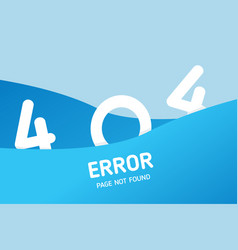 404 error with wave graphic design template for vector image