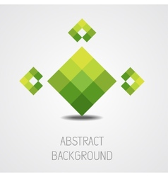 Abstract green shape background vector image