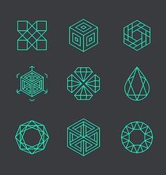 Abstract modern logo design templates in trendy vector