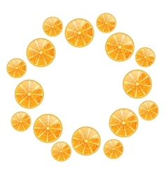 Abstract Round Frame with Sliced Oranges vector