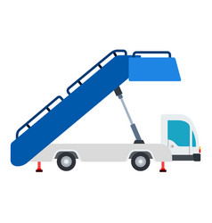 airport ladder on wheels flat material design vector image
