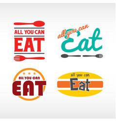all you can eat vector image