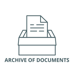 archive documents line icon archive of vector image