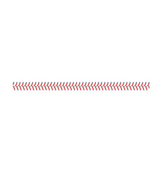 Baseball and softball lace stitch isolated on vector