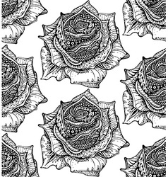 Beautiful seamless pattern with hand drawn ornate vector image